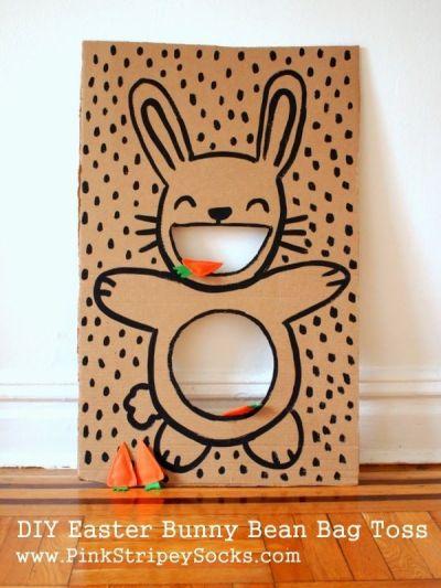 easter bunny bean bag toss