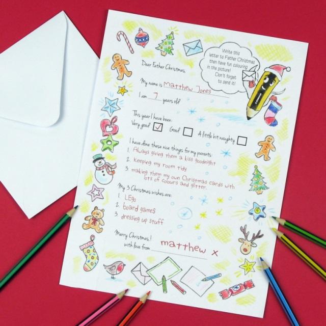 Coloured in letter - master